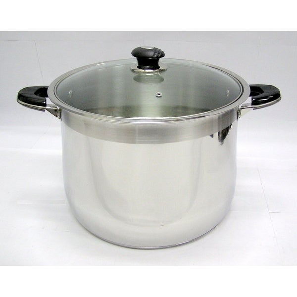 24 Qt Stainless Steel Tri-Ply Clad Heavy Duty Gourmet Stock Pot. Opens flyout.