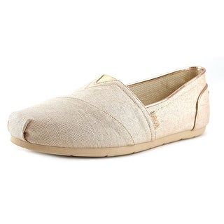 Bobs by Skechers Luxe Bobs-Festivities Round Toe Canvas Loafer