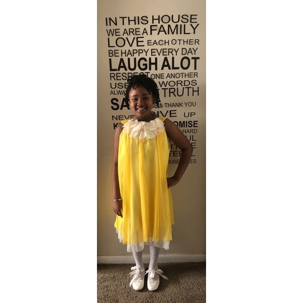 38815a8aa4ed Shop Kids Dream Little Girls Yellow Chiffon Floral Lace Bodice Easter Dress  2T-14 - Free Shipping On Orders Over $45 - Overstock - 18161989