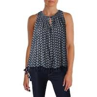 Scotch & Soda Womens Pullover Top Printed Sleeveless