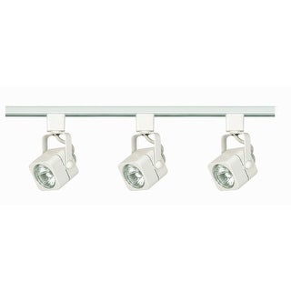 Nuvo Lighting TK345 Three Light MR16 Square 120V Track Kit - White