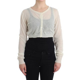 Ermanno Scervino Ermanno Scervino Lingerie Knit Cropped Wool Sweater Cardigan - it48-xl