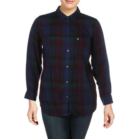 Levi's Womens Plus Blouse Plaid Relaxed - 1X