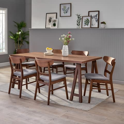 Idalia Mid-Century Modern 7 Piece Dining Set with A-Frame Table by Christopher Knight Home