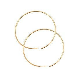 22K Gold Plated Beading Hoops For Chandelier Earrings 1 Inch (20)