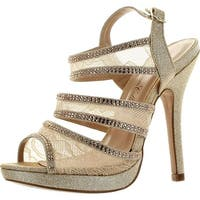 De Blossom Womens Yael-88 Dressy Party Heels Sandals
