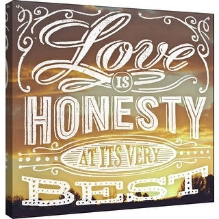 "PTM Images 9-101020  PTM Canvas Collection 12"" x 12"" - ""Love"" Giclee Family Saying Art Print on Canvas"