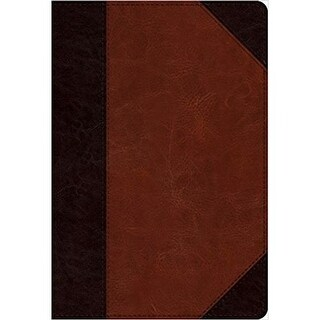 Large Print ESV Compact Bible-Portfolio Design TruTone, Brown