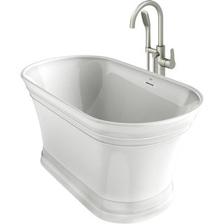 "Jacuzzi LYN5931BCXXXX Lyndsay 59"" Soaking Bathtub for Freestanding Installation - white / white trim"