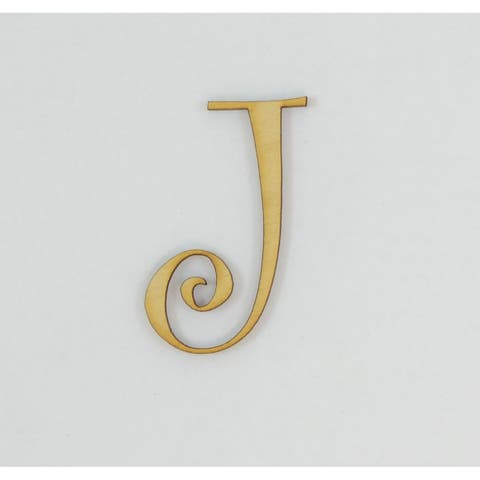 1 Pc, 12 Inch X 1/8 Inch Thick Wood Letters J In The Curlz Font Great For Craft Project & Different Decor