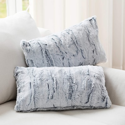 Cheer Collection Embossed Faux Fur Throw Pillows