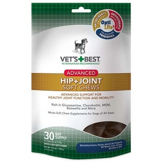 Vet's Best Advanced Hip and Joint Dog Soft Chews 30 count