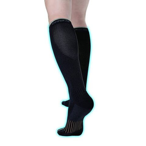 Copper Fit Unisex-Adult's 2.0 Easy-Off Knee High, Black, Size Large / X-Large - Large / X-Large