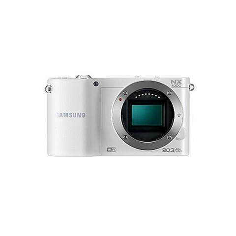 Samsung NX1000 White ~ 20.3MP Digital Camera Body Only