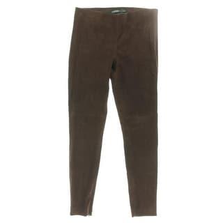 Lauren Ralph Lauren Womens Casual Pants Suede Skinny Fit - 12