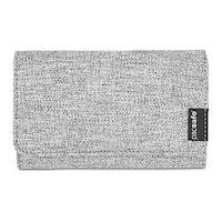 Pacsafe RFIDsafe LX100 - Tweed Grey RFID Blocking Wallet w/ Snap Button Closure