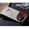 Premium Aluminum Metal Mirror Case With Bumper Snap-On Cover For Samsung Galaxy S7 - Thumbnail 12