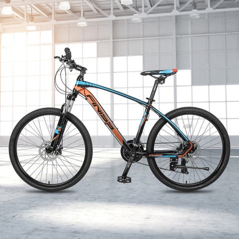 "TiramisuBest 26"" Aluminum Mountain Bike 24 Speed with Suspension Fork"