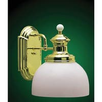 Volume Lighting V4901 Aberdeen Wall Sconce with 1 Light and White Cased Glass