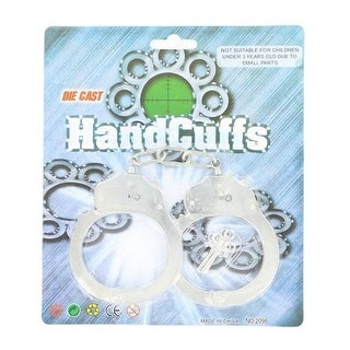 M&F Western Toy Kids Handcuffs with Key Child Silver 50796