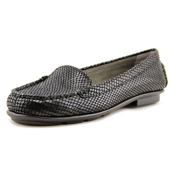 Aerosoles Nu Day Women Black Lizard Flats