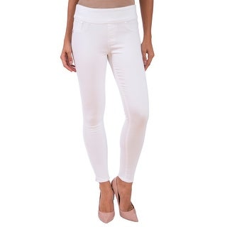 Lola Jeans Rachel-WHT, High Rise Pull On Ankle With 4-Way Stretch