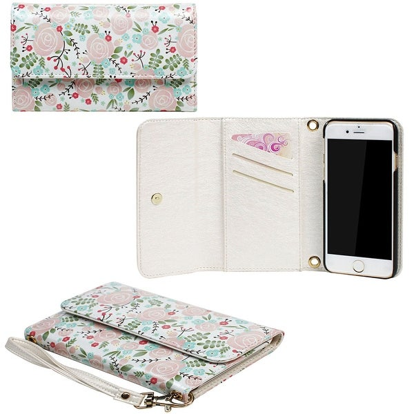 JAVOedge Rose Wallpaper Clutch Wallet Case with Matching Wristlet for iPhone 6 Plus (5.5 inch) - roses