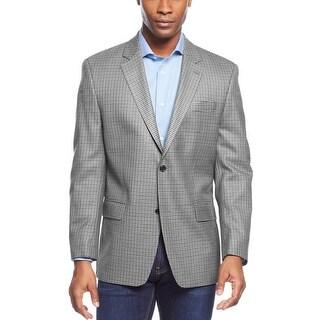 Michael Kors Light Grey Check Two Button Sportcoat 36 Regular 36R Blazer