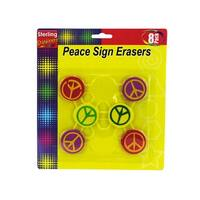 Peace Sign Erasers - Pack of 24
