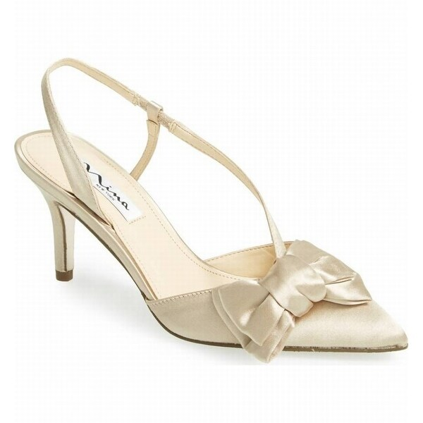 Nina NEW White Ivory Women's Shoes Size 6.5M Teddi Slingback Heels
