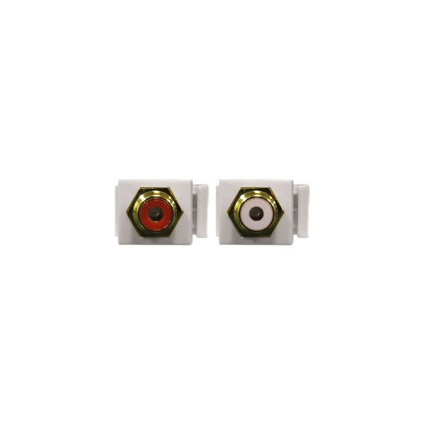 Stereo Audio RCA Keystone Jacks (2 White and 2 Red)