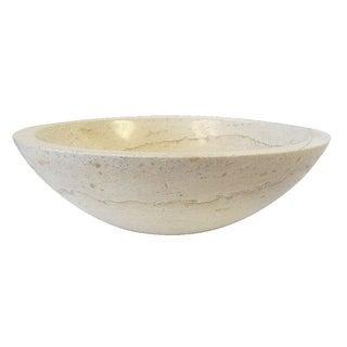 Eden Bath White Travertine Bowl Stone Sink