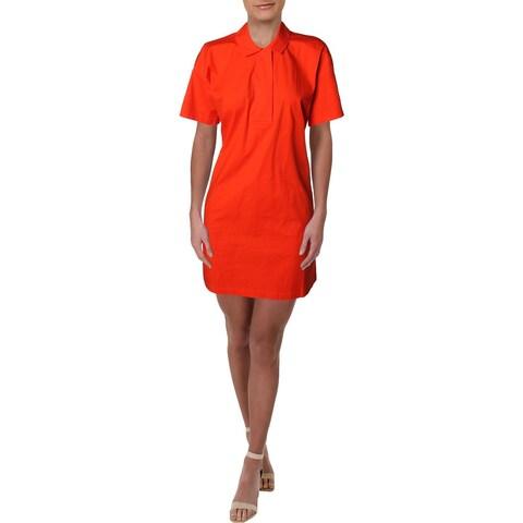 Eileen Fisher Womens Shirtdress Knee-Length Collar - M