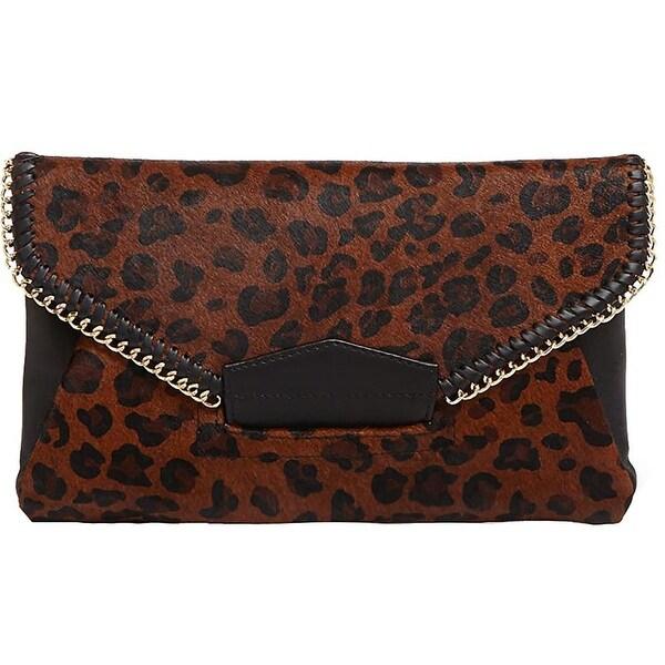 Shop Sondra Roberts Womens Clutch Handbag Calf Hair Animal Print - Medium -  Free Shipping Today - Overstock - 18956005 909d063c18eb