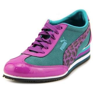 Puma Caroline Stripe Round Toe Synthetic Sneakers