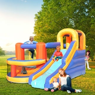 Inflatable Bounce House,Slide Bouncer with Basketball Hoop