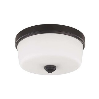 "Canarm IFM286A16 Jackson 3 Light 15-3/4"" Wide Flush Mount Ceiling Fixture"