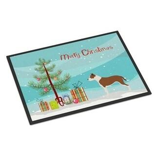 Carolines Treasures BB8487MAT Pit Bull Terrier Christmas Indoor or Outdoor Mat - 18 x 27 in.