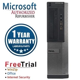 Refurbished Dell OptiPlex 390 Desktop Intel Core I5 2400 3.1G 16G DDR3 2TB DVDRW Win 10 Pro 1 Year Warranty