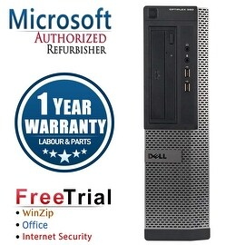 Refurbished Dell OptiPlex 390 Desktop Intel Core I5 2400 3.1G 8G DDR3 1TB DVDRW Win 7 Pro 64 Bits 1 Year Warranty