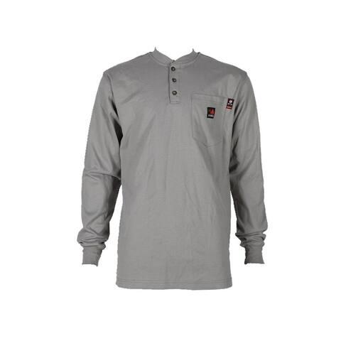 Forge FR Work Shirt Men Long Sleeve Henley Flame Resistant