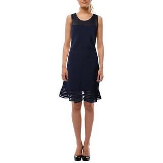 Lauren Ralph Lauren Womens Casual Dress Mesh Inset Racerback