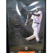 Signed Bonds Barry San Francisco Giants 22x34 12 Poster Light Kinks in poster and boarder is banged
