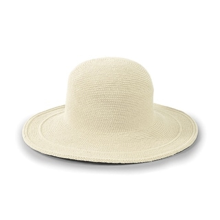 Women's Crochet Wide Brim Sun Hat in Cotton with UPF 50+