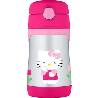 THERMOS Vacuum Insulated Stainless Steel 10-Ounce Straw Bottle (Hello Kitty)
