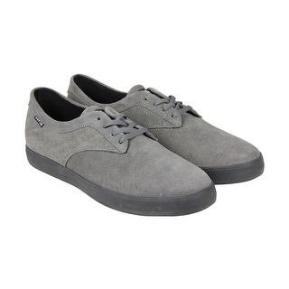 HUF Sutter Mens Grey Suede Lace Up Sneakers Shoes