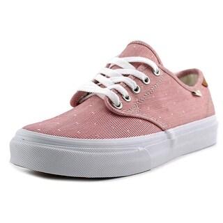 Vans Camden Deluxe Women Round Toe Canvas Red Sneakers
