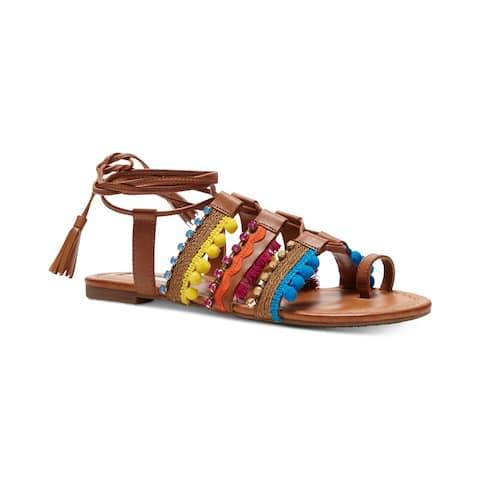 a9994e84c19 INC International Concepts Womens mariani Open Toe Casual Gladiator Sandals