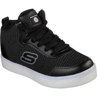 Skechers Boys' S Lights Energy Lights Halation High Top Sneaker Black