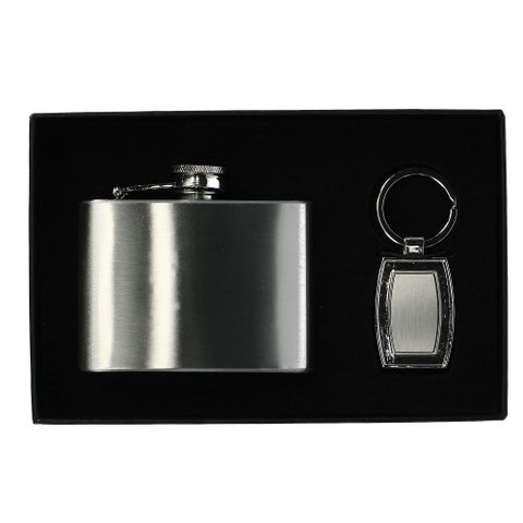 Umo Lorenzo Key Chain and Flask Gift Set - One size